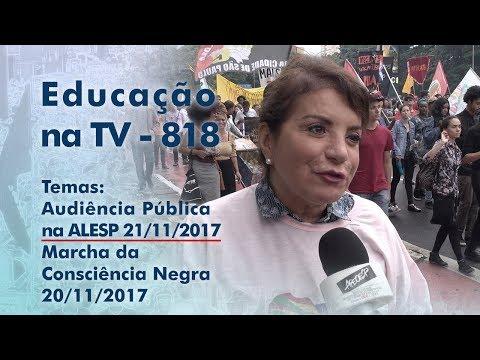 Audiência Pública na Alesp 21.11.2017 / Marcha da Consciência Negra