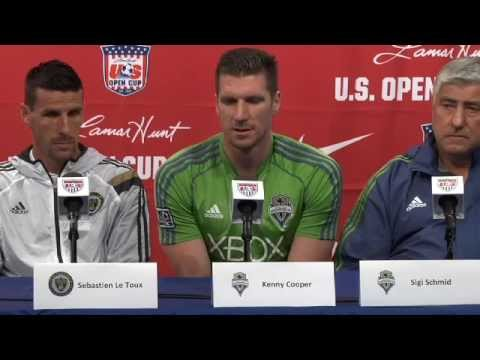 Conference - LIVE coverage of the Philadelphia Union and Seattle Sounders press conference from PPL Park in Chester, PA. More info: http://www.ussoccer.com Subscribe to U.S. Soccer on YouTube! http://www.yout...