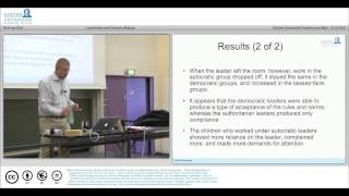 MOOC Social Psychology Lecture 8: Leadership and Decision Making