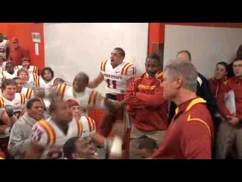 Paul Rhoads - Watch head coach Paul Rhoads and the Iowa State football team celebrate in the lockerroom after ISU's 9-7 win over Nebraska in Lincoln.