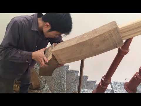 Thi công cầu thang gỗ tự nhiên tại hcm