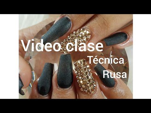 Videos de uñas - VIDEO CLASE Técnica Rusa en uñas acrilicas.