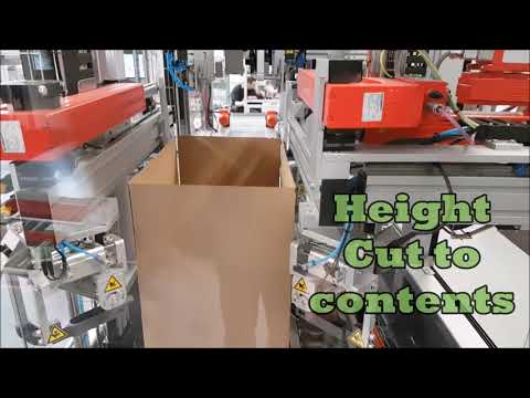 Volume Reducing Carton Taper with Recyclable Gummed Tape