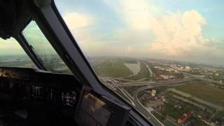 Pilot's View - Lufthansa Cargo MD-11 Approach Bangkok From The Cockpit