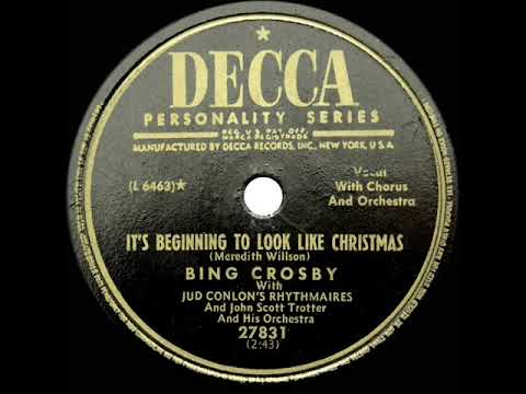 1951 Bing Crosby - It's Beginning To Look A Lot Like Christmas