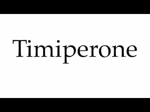 How to Pronounce Timiperone