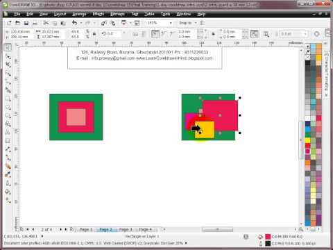 Learn CorelDRAW - Hindi Tutorial - Day 2 - Step-1