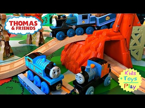 Thomas Train | Thomas and Friends Wood Play Table Misty Island Playtime | Playing with Trains