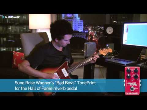 "Sune Rose Wagner (The Raveonettes) demoes his ""Bad Boys"" Reverb TonePrint"
