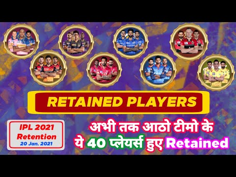 IPL 2021 - Confirm List Of All 40 Retained Players | RCB , MI , KKR Shocked | MY Cricket Production