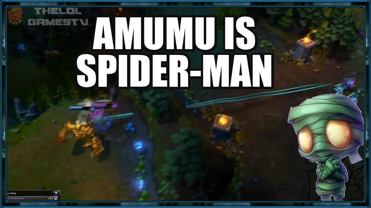 Liên Minh Huyền Thoại: Amumu bay như người nhện :))