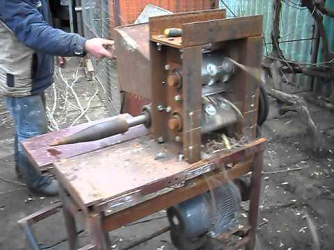 Измельчитель дров своими руками и чертеж