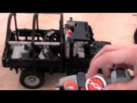 Lego technic Oldtimer Van with PF motors part2