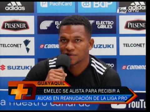 Emelec se alista para recibir a Aucas en reanudación de la Liga Pro