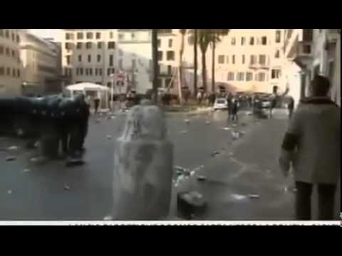 Feyenoord Hooligans randalieren in Rom / IT