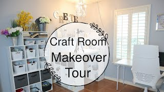 Craft Room Makeover Tour | DIY Craft Room Studio Ideas 2019