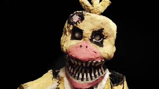 A Real model of Nightmare Chica from the game series Five Nights At Freddy's, Made of newspaper, wire , various metals and cardboardMore FNAF models i've made:Funtime Freddy and Bon Bon: https://www.youtube.com/watch?v=fUsyX2K2z1wNightmare Chica: https://www.youtube.com/watch?v=oBLm9fKCR-kNightmare Bonnie: https://www.youtube.com/watch?v=Bi9l1ocQshwPlushTrap: https://www.youtube.com/watch?v=xeH9VJe7l-EFoxy: https://www.youtube.com/watch?v=CtPbOwuGW5kBonnie: https://www.youtube.com/watch?v=3bGHLN9dpykNightmare Mangle: https://www.youtube.com/watch?v=LubBr9PjWgESpringtrap: https://www.youtube.com/watch?v=P7euYae63DEPhantom Mangle: https://www.youtube.com/watch?v=5ZO9YpZfOT4The Mangle: https://www.youtube.com/watch?v=QtLgsZUOo3ISong: Singularity - Alone ( Au5 and Fractal Remix )