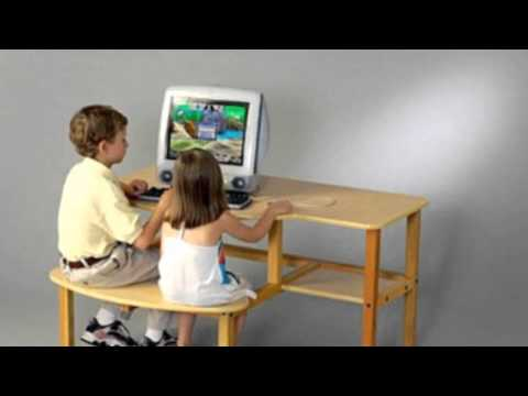 Video Video analysis of the Childs Wooden Computer Desk For 1