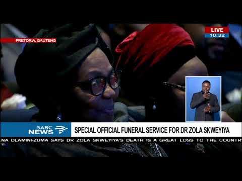 Thuthukile Mazibuko-Skweyiya message to husband Zola[read by Magubane]