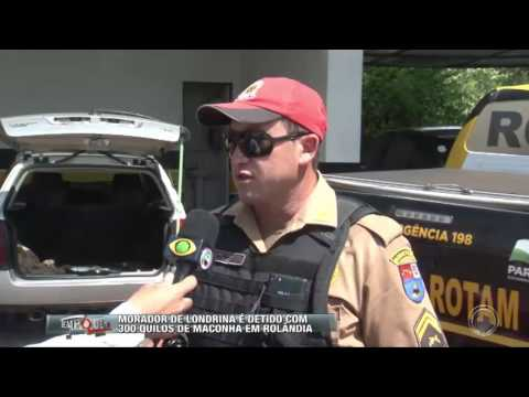 Morador de Londrina é detido com 300 kg de maconha em Rolândia