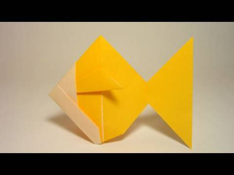 Realiser un simple origami des bulles dans l aquarium - Origami simple a realiser ...