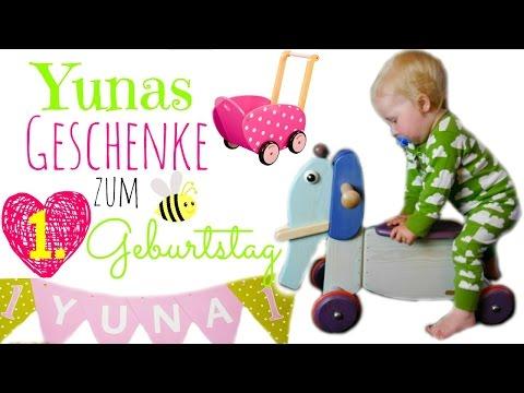 Geschenke zum 1. Geburtstag | Yuna wird 1! | Rutschtier, Puppenwagen, Bücher
