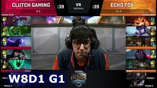 Video Clutch Gaming vs Echo Fox | Week 8 Day 1 of S8 NA LCS Spring 2018 | CG vs FOX W8D1 G1 MP3, 3GP, MP4, WEBM, AVI, FLV Juni 2018
