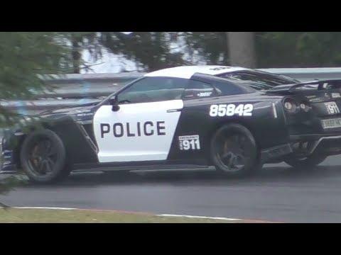 700HP Police GT-R Powerslide on the Nürburgring!