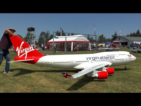 Giant Boeing 747400 Virgin Atlantic