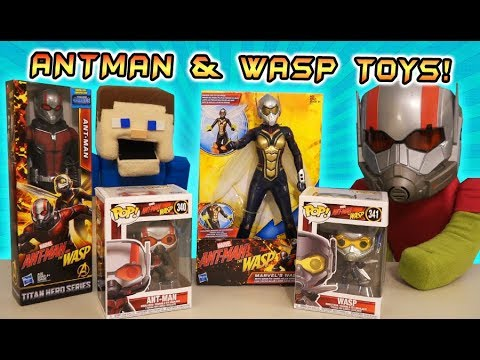 Antman And The Wasp Movie Toys Action Figures Funko Pop LEGO Unboxing INFINITY WAR