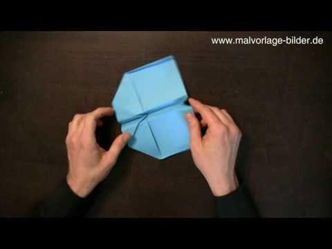 Papierflieger Anleitung zum Falten - Bauanleitung Flieger