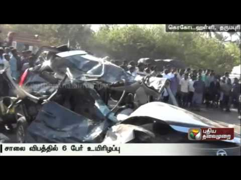 Six-killed-in-a-car-accident-at-Dharmapuri