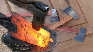 Video Making Cambodia's most popular ax by blacksmiths and carpenter MP3, 3GP, MP4, WEBM, AVI, FLV April 2019