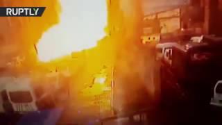 Камера наблюдения запечатлела момент взрыва у здания суда в Измире