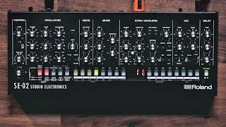 This video is a sounds only demonstration of the Roland SE-02 Analog Synthesizer - designed in collaboration with Studio...