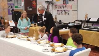 Seating the Ladies - Table Manners Class - Holly Academy 5th Grade