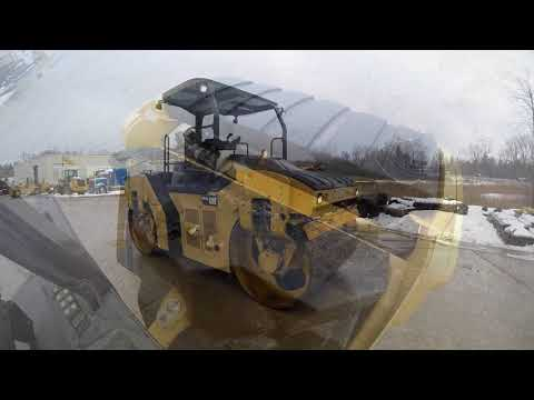 CATERPILLAR VIBRATORY DOUBLE DRUM ASPHALT CB54B equipment video oCHfxWYfodY