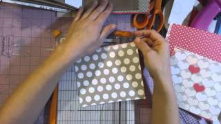 this is part one of how I decorate my mini album pages. This video shows attaching the pp to the pages. www.superhappyscrapper.blogspot.com facebook ...