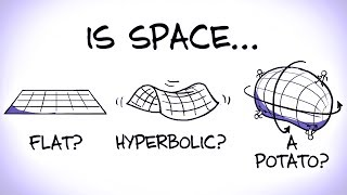 """A collaboration with Jorge Cham and Daniel Whiteson, check out """"We Have No Idea"""" at http://www.wehavenoidea.comJorge's PhDComics: http://www.phdcomics.comNumberphile video about sports in hyperbolic space: https://www.youtube.com/watch?v=u6Got0X41pYSupport MinutePhysics on Patreon! http://www.patreon.com/minutephysicsLink to Patreon Supporters: http://www.minutephysics.com/supporters/MinutePhysics is on twitter - @minutephysicsAnd facebook - http://facebook.com/minutephysicsAnd Google+ (does anyone use this any more?) - http://bit.ly/qzEwc6This video is about the local and global geometry and curvature of space and spacetime, aka, is space flat? Negatively curved? Positively curved? etc.Minute Physics provides an energetic and entertaining view of old and new problems in physics -- all in a minute!Created by Henry Reich"""