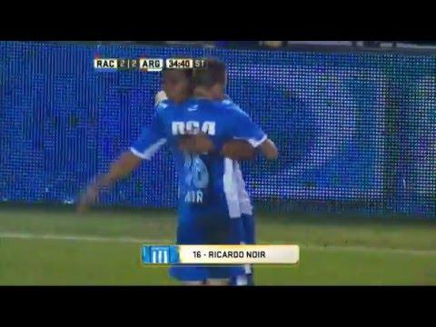 Gol de Noir. Racing 2 - Argentinos 2. Fecha 11. Primera División 2016.