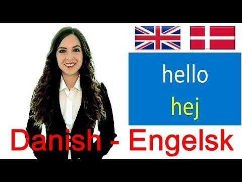 Danish-English: Dansk-Engelsk: most common words: basic language lesson for beginners