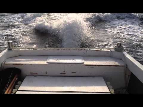 25ft fast fishing boat with 315hp Yanmar engine, first test run.
