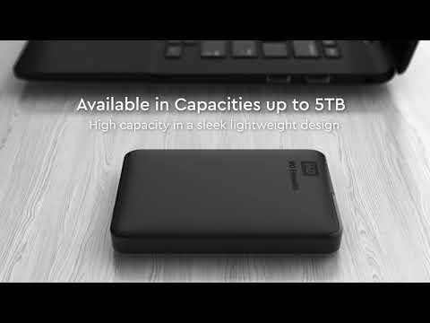 """WD Elements 1TB 2,5"""" USB3.0 externý pevný disk, čierny, WDBUZG0010BBK-EESN"""