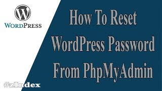 How To Recover WordPress Password From Hosting Control  PanelContact Me: riyadabc@gmail.comIf you forget your WordPress website user name, password or email address - you can easily retrive all of your login details from database user section. In this video, I recovered pass, but you can update username and email address as well. Recovering wordpress password and email is not hard, if you follow some basic steps. All the hosting company hosting control panel are same. You have to find phpmyadmin section and then wp_user section. Don't forget to choose MD5 format, when you are creating new password.Few Related Video:How to reset WordPress WP Password using cPanel and phpMyAdminPatrick AltmaeirHow to reset your WordPress Admin password in Cpanel.Bruce AndrewsHow to Reset Your WordPress PasswordHostGatorHow to reset your WordPress Password in PHPmyAdminInMotion HostingHow to reset Wordpress Password from Cpanel using phpMyAdminFW LABHow to Reset your WordPress Admin PasswordgameutopiaHow To Recover WordPress Sign in Password & UsernameSign in ProblemsRelated Questions:How can I change wordpress admin password?How do I change my Cpanel password?What does it mean when it says Error establishing a database connection?How do I login to my wordpress admin panel?