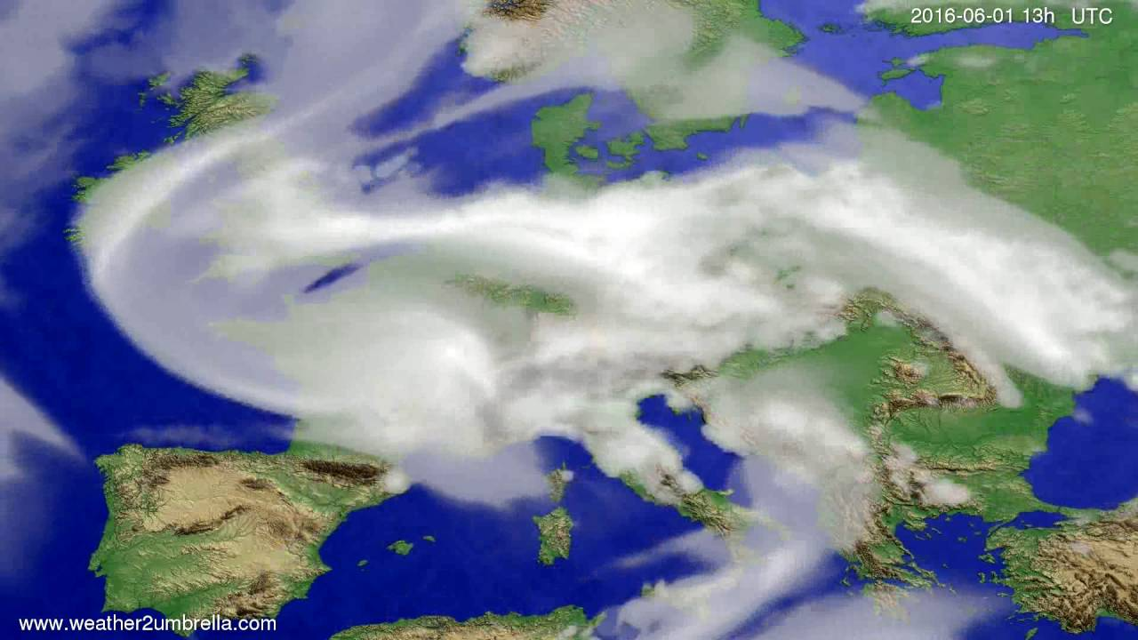 Cloud forecast Europe 2016-05-29