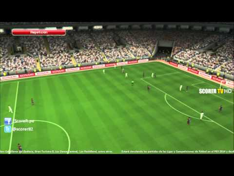 PES 2014 Full Game: Real Madrid vs FC Barcelona (relatado por Pato Yañez y Solabarrieta)  @ Jugado