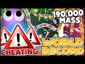 SLITHER.IO CHEATING AND THE BIGGEST WORLD RECORD IN THE SNAKE UNIVERSE (SLITHER.IO / SLITHERIO #9)
