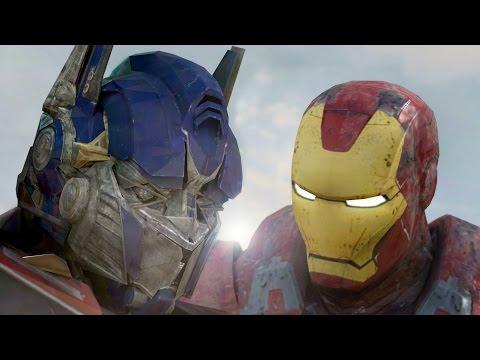 鋼鐵人PK柯柏文!你一定覺得光看大小就不用打了,但到了8:23我覺得已經比《英雄內戰》的打鬥畫面好看了!