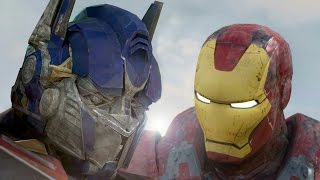 VIDEO: IRONMAN vs OPTIMUS PRIME – Super Power Beat Down