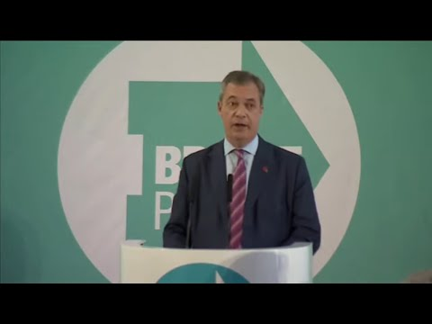 Großbritannien: Brexit Party - Nigel Farage le ...